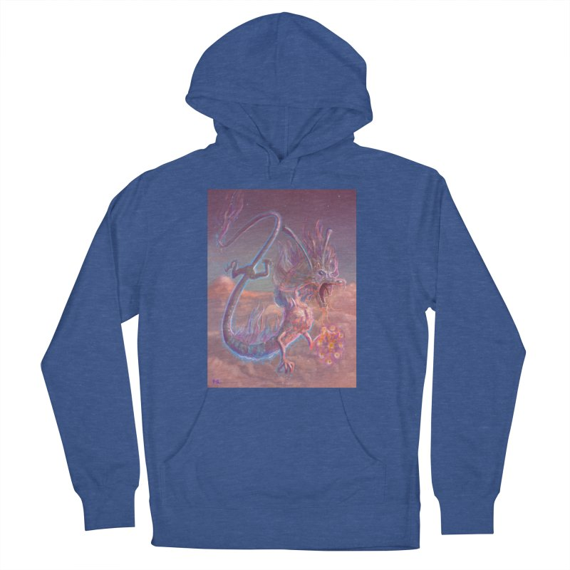 Sky Dragon Women's French Terry Pullover Hoody by Unigon Pics Delicious Merch Shoppe