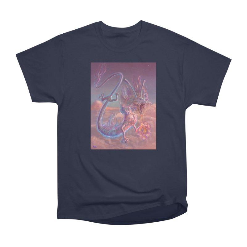 Sky Dragon Men's Heavyweight T-Shirt by Unigon Pics Delicious Merch Shoppe