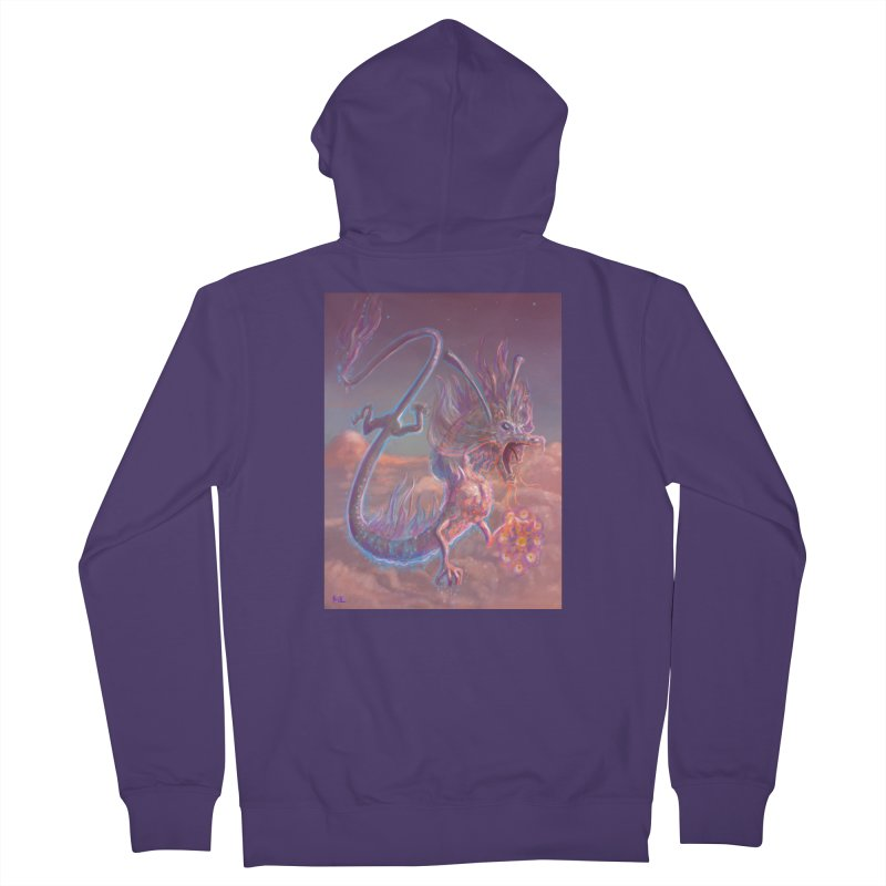 Sky Dragon Women's French Terry Zip-Up Hoody by Unigon Pics Delicious Merch Shoppe