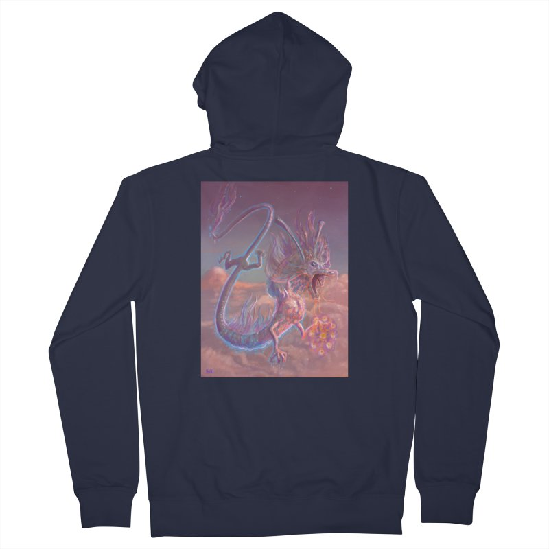 Sky Dragon Men's French Terry Zip-Up Hoody by Unigon Pics Delicious Merch Shoppe
