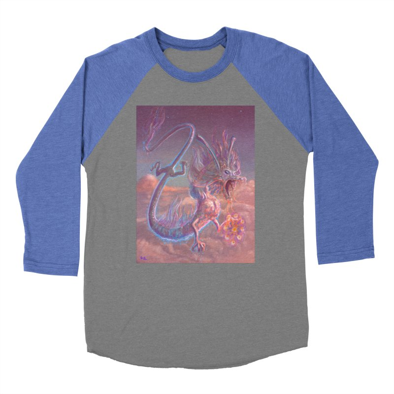 Sky Dragon Men's Baseball Triblend Longsleeve T-Shirt by Unigon Pics Delicious Merch Shoppe