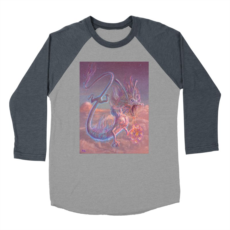 Sky Dragon Men's Baseball Triblend Longsleeve T-Shirt by Unigon Pics Delicious Merch Shoppe