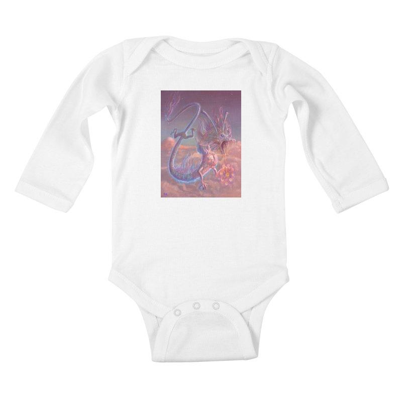 Sky Dragon Kids Baby Longsleeve Bodysuit by Unigon Pics Delicious Merch Shoppe