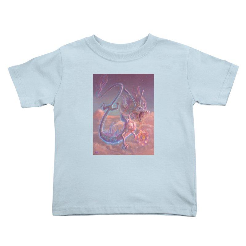 Sky Dragon Kids Toddler T-Shirt by Unigon Pics Delicious Merch Shoppe