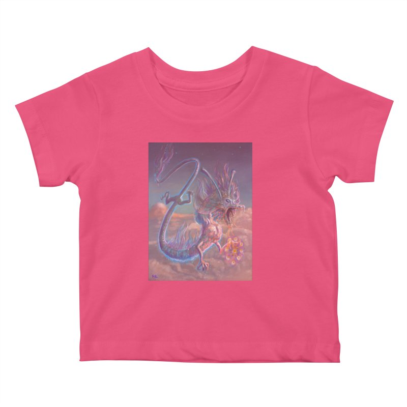 Sky Dragon Kids Baby T-Shirt by Unigon Pics Delicious Merch Shoppe