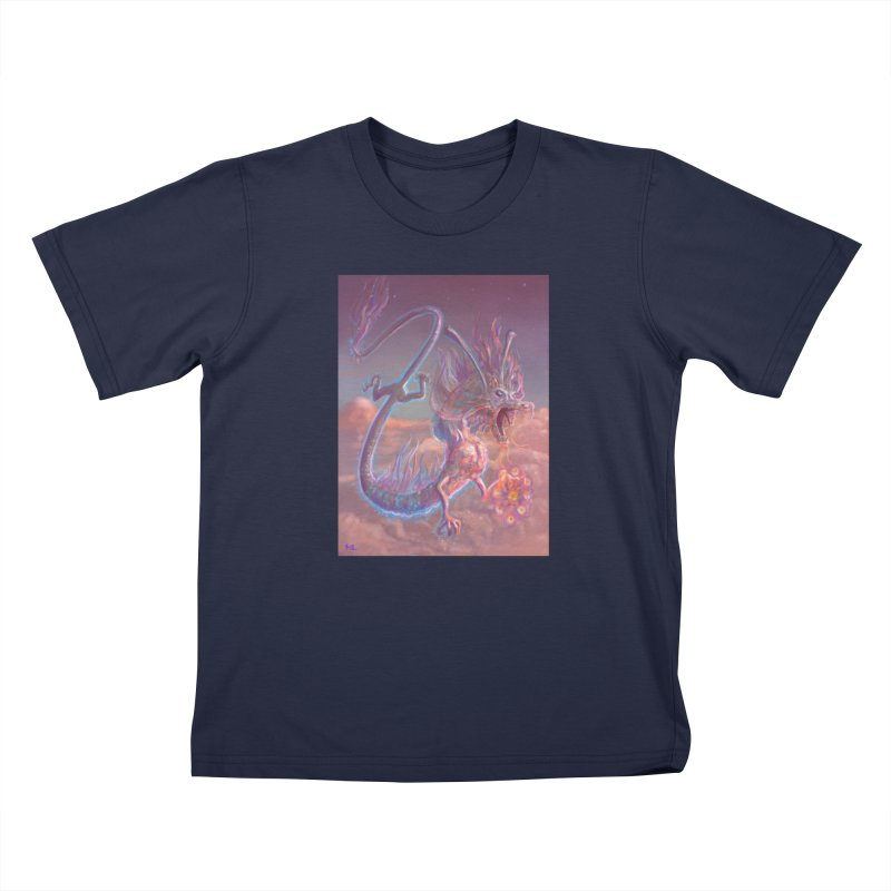 Sky Dragon Kids T-Shirt by Unigon Pics Delicious Merch Shoppe