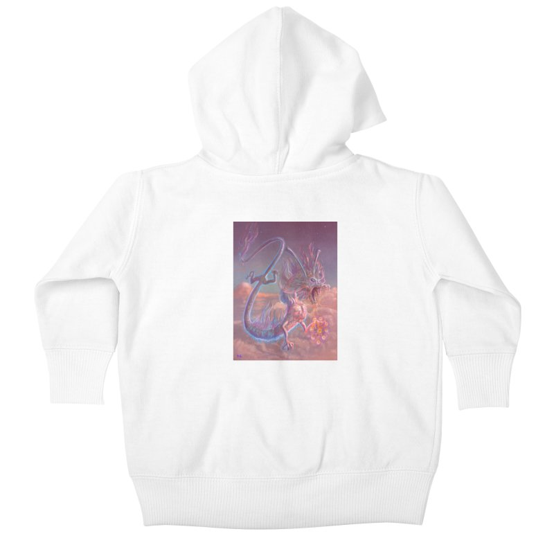 Sky Dragon Kids Baby Zip-Up Hoody by Unigon Pics Delicious Merch Shoppe