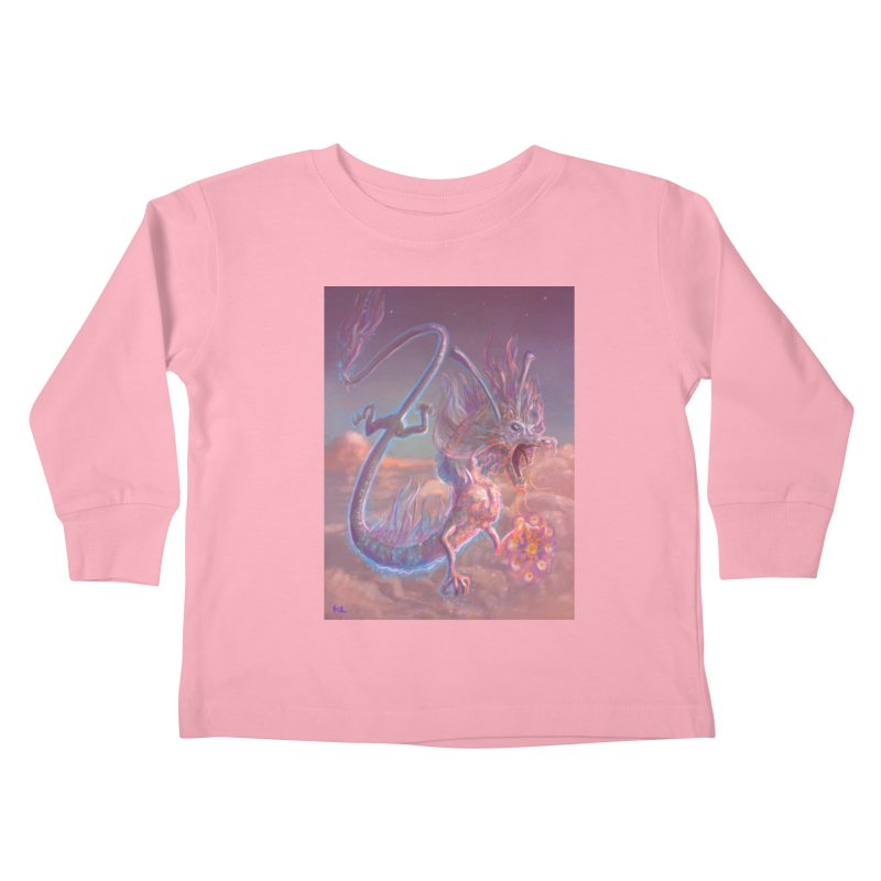 Sky Dragon Kids Toddler Longsleeve T-Shirt by Unigon Pics Delicious Merch Shoppe