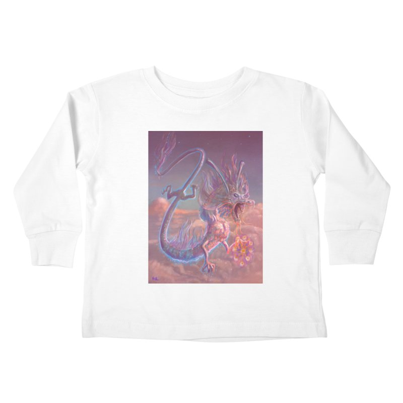 Sky Dragon Kids Toddler Longsleeve T-Shirt by Unigon Pics Delicious Merch Shoppe