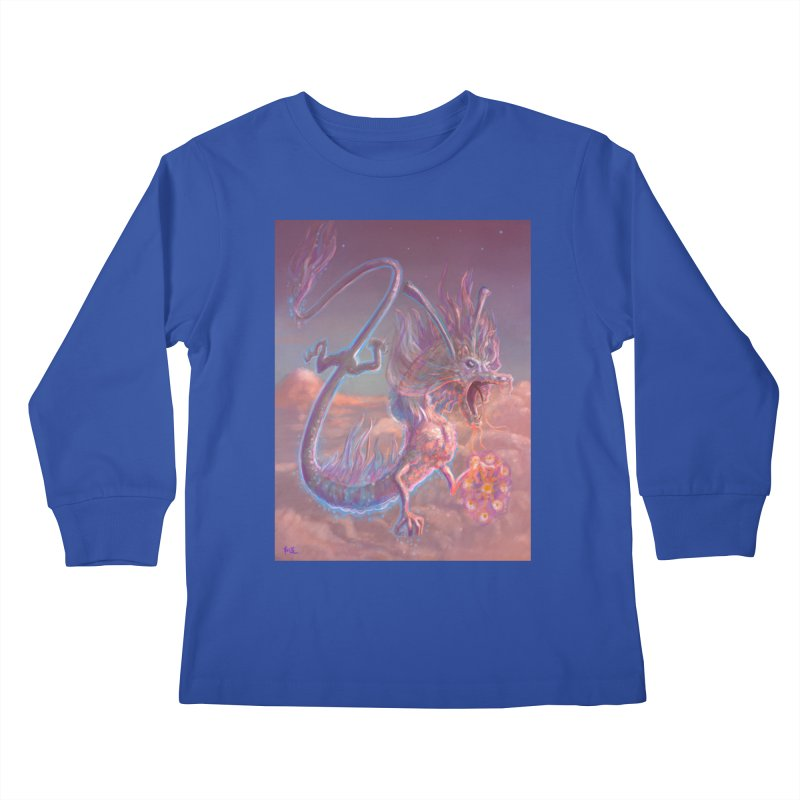 Sky Dragon Kids Longsleeve T-Shirt by Unigon Pics Delicious Merch Shoppe
