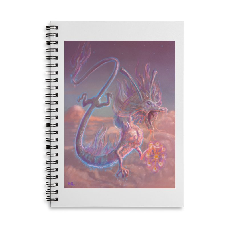 Sky Dragon Accessories Lined Spiral Notebook by Unigon Pics Delicious Merch Shoppe