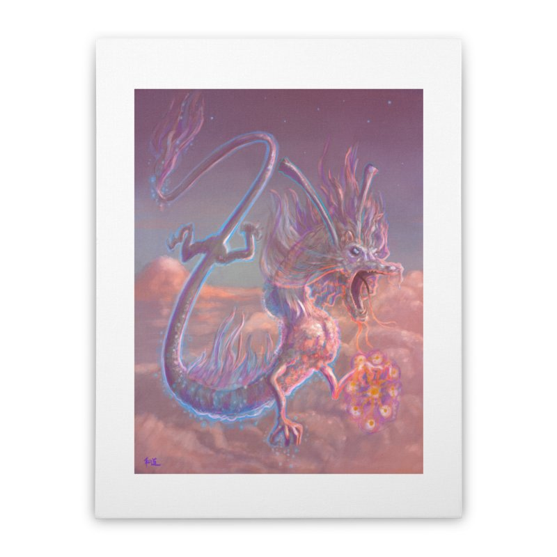 Sky Dragon Home Stretched Canvas by Unigon Pics Delicious Merch Shoppe