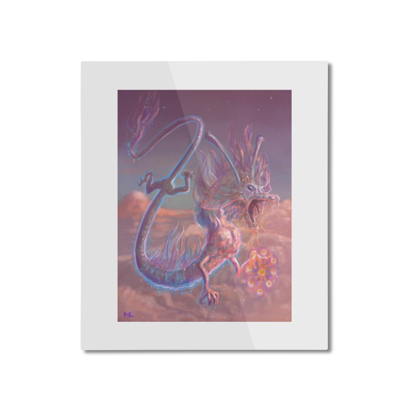 Sky Dragon Home Mounted Aluminum Print by Unigon Pics Delicious Merch Shoppe