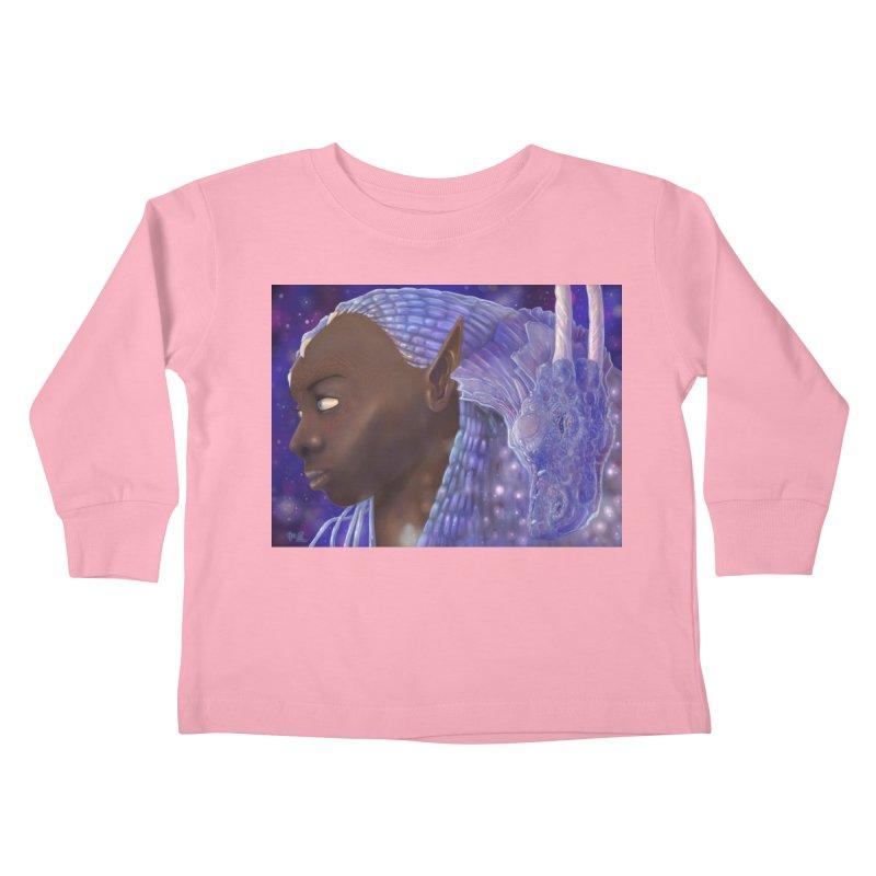 Dragon Lady Kids Toddler Longsleeve T-Shirt by Unigon Pics Delicious Merch Shoppe