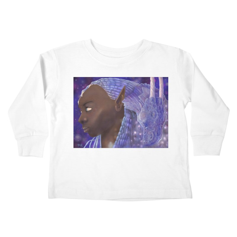 Dragon Lady Kids Toddler Longsleeve T-Shirt by Unigon Pics Delicious Merch Shoppe