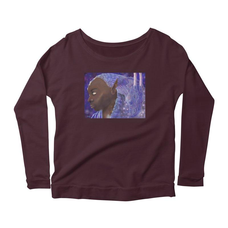 Dragon Lady Women's Scoop Neck Longsleeve T-Shirt by Unigon Pics Delicious Merch Shoppe
