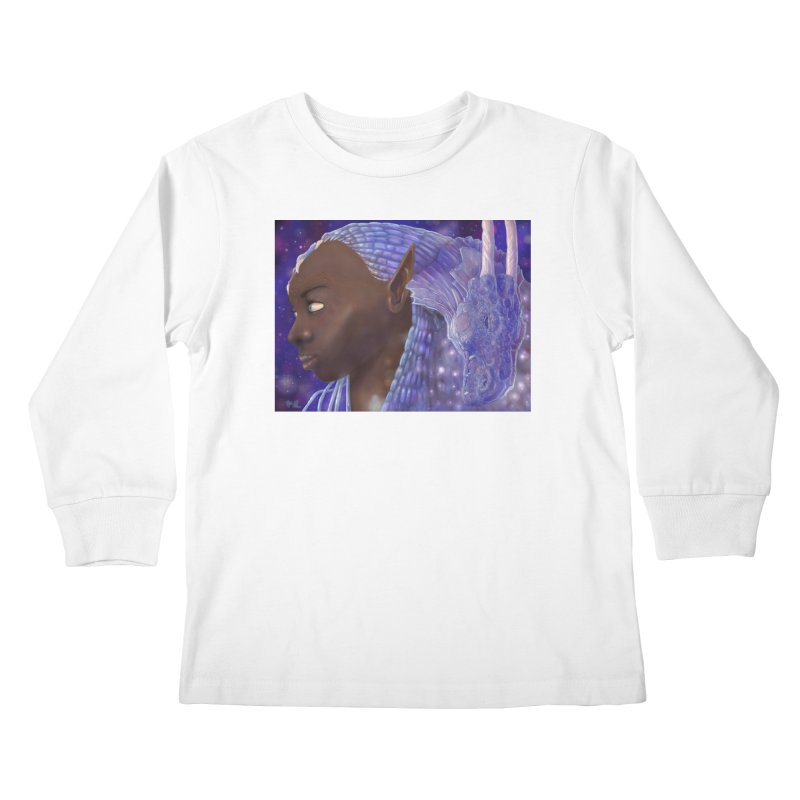 Dragon Lady Kids Longsleeve T-Shirt by Unigon Pics Delicious Merch Shoppe