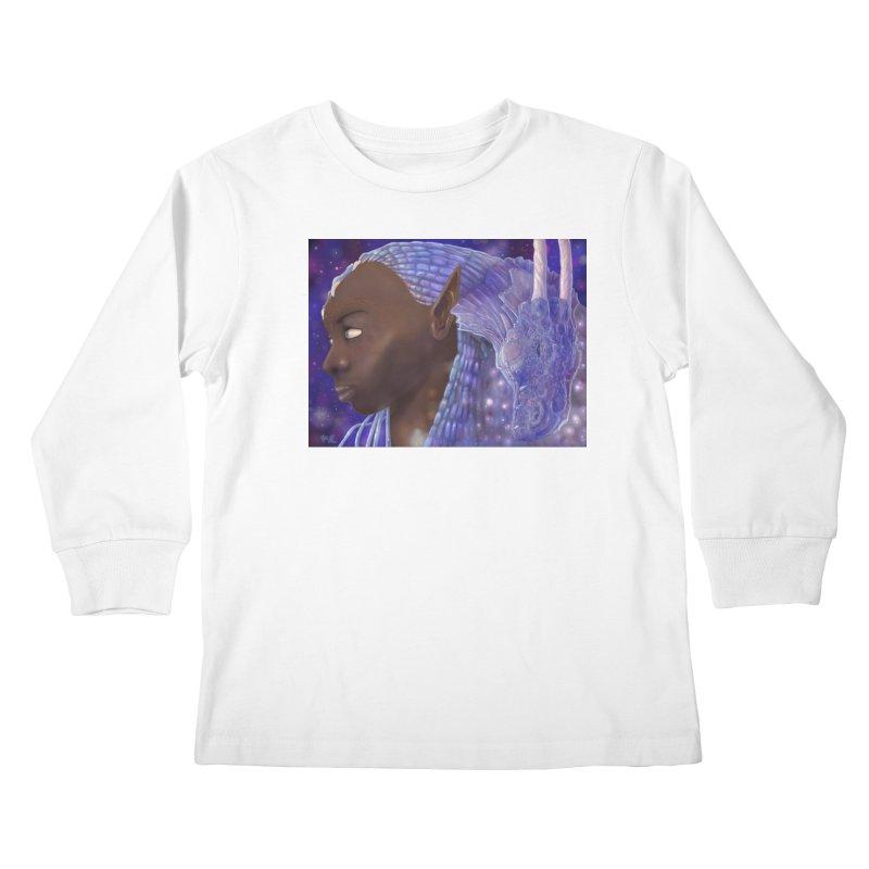 Dragon Lady Kids Longsleeve T-Shirt by Unigon Pics Delicious Merch Shoppe