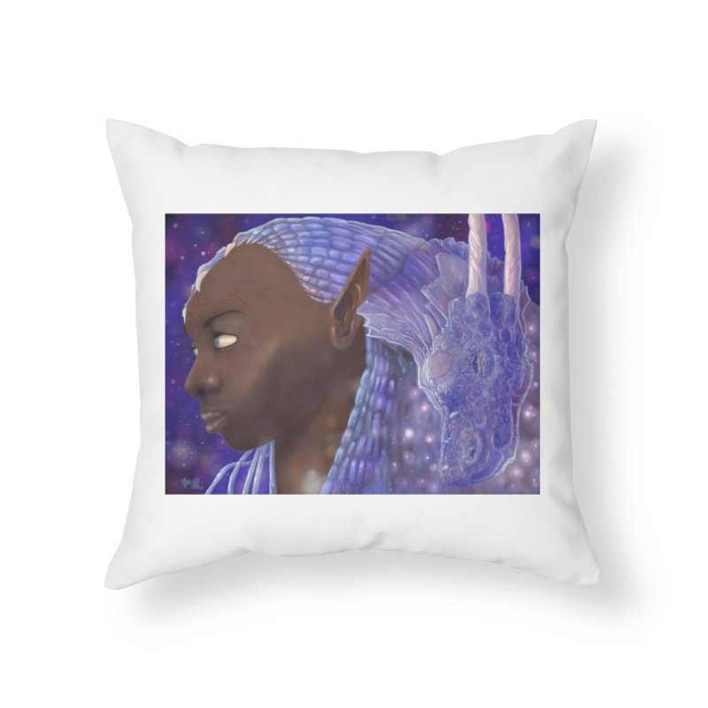 Dragon Lady Home Throw Pillow by Unigon Pics Delicious Merch Shoppe