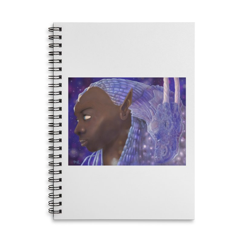Dragon Lady Accessories Lined Spiral Notebook by Unigon Pics Delicious Merch Shoppe