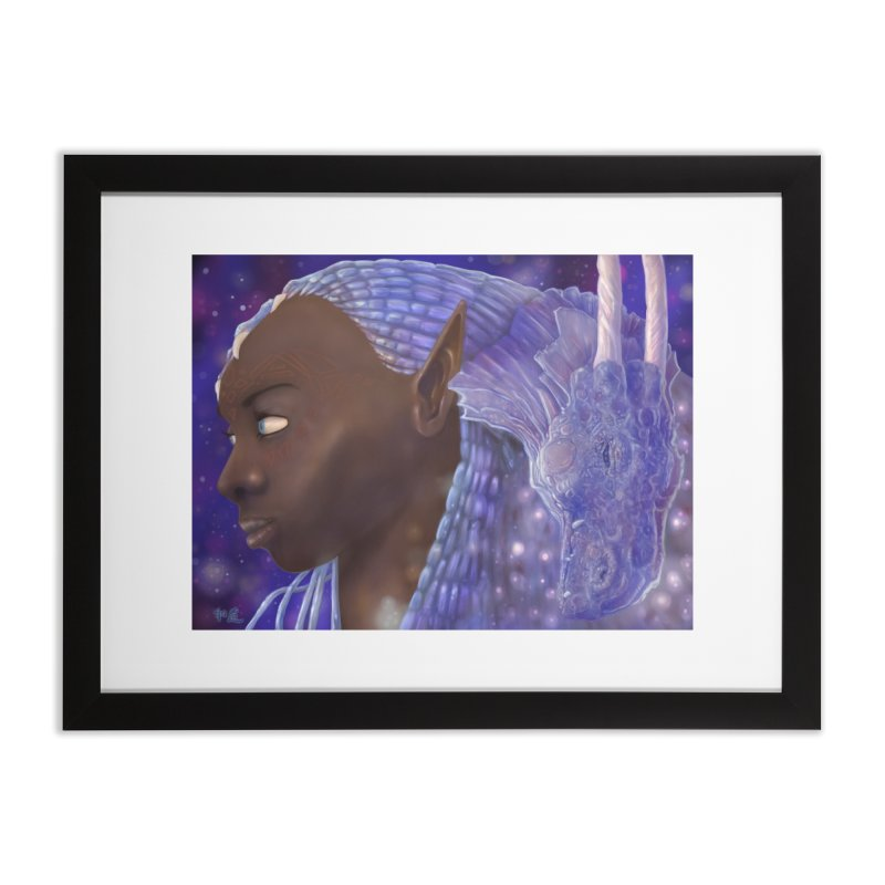Dragon Lady Home Framed Fine Art Print by Unigon Pics Delicious Merch Shoppe