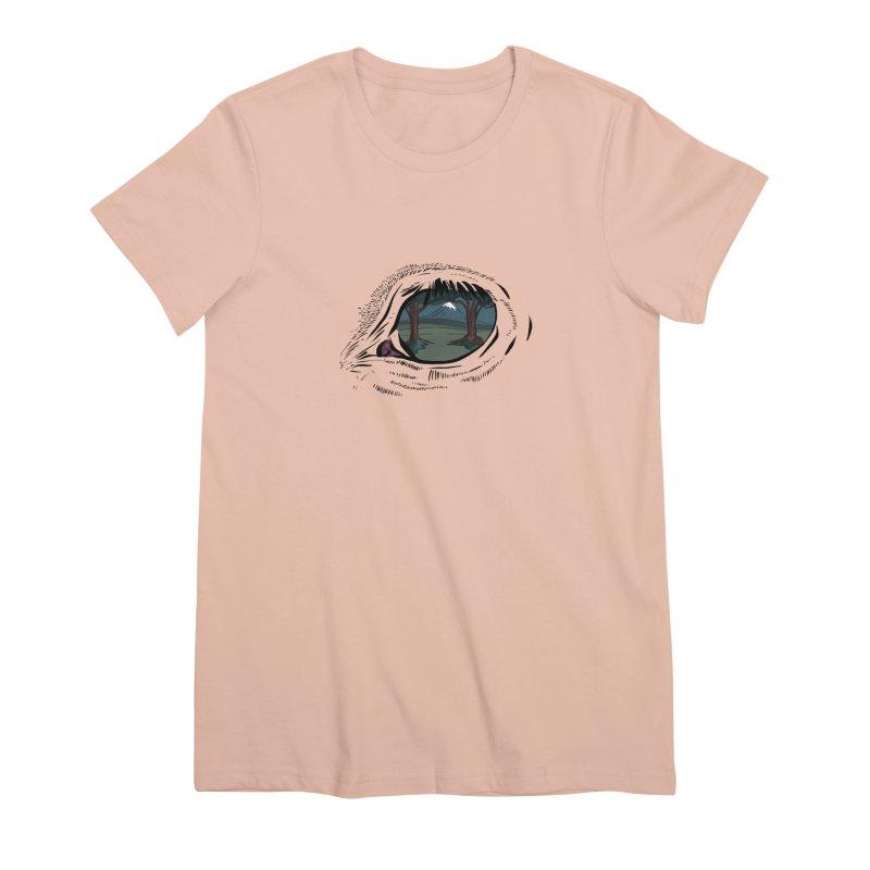 Unicorn Eye Women's Premium T-Shirt by Unigon Pics Delicious Merch Shoppe