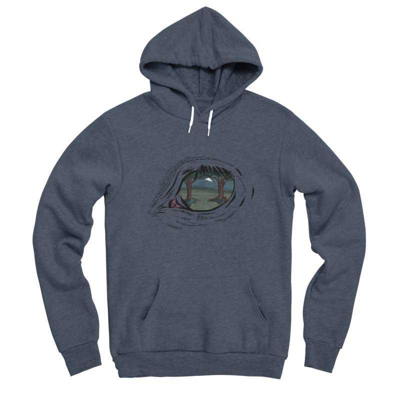 Unicorn Eye Men's Sponge Fleece Pullover Hoody by Unigon Pics Delicious Merch Shoppe