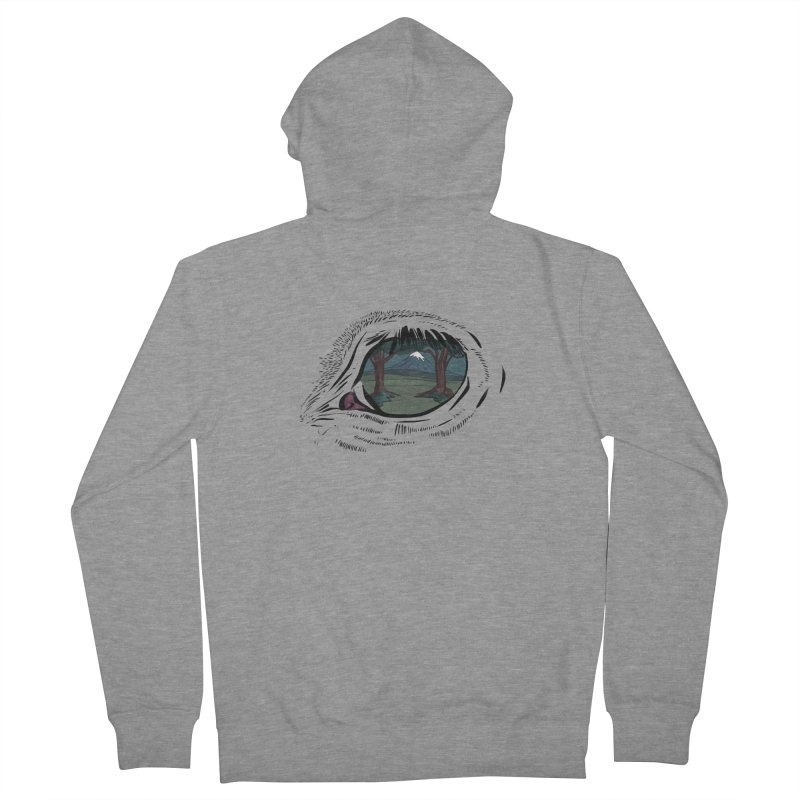Unicorn Eye Men's French Terry Zip-Up Hoody by Unigon Pics Delicious Merch Shoppe
