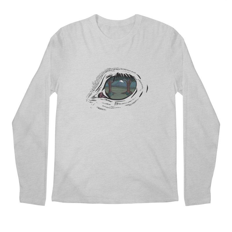 Unicorn Eye Men's Regular Longsleeve T-Shirt by Unigon Pics Delicious Merch Shoppe
