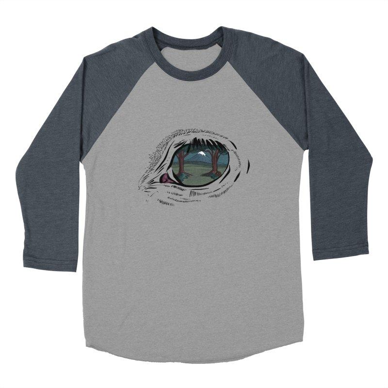 Unicorn Eye Men's Baseball Triblend Longsleeve T-Shirt by Unigon Pics Delicious Merch Shoppe