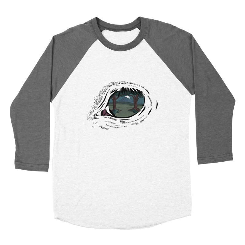 Unicorn Eye Men's Baseball Triblend Longsleeve T-Shirt by Unigon Pics Delicious Merch Shoppe