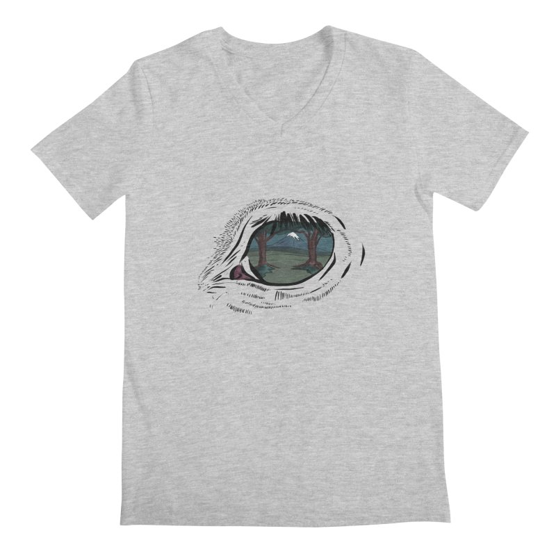 Unicorn Eye Men's Regular V-Neck by Unigon Pics Delicious Merch Shoppe