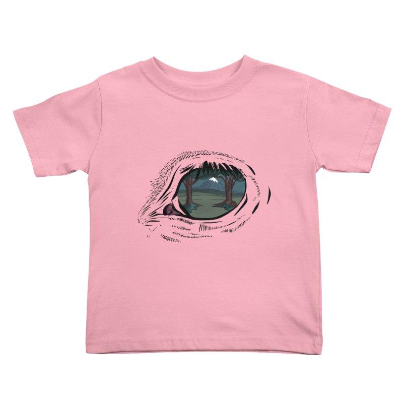 Unicorn Eye Kids Toddler T-Shirt by Unigon Pics Delicious Merch Shoppe