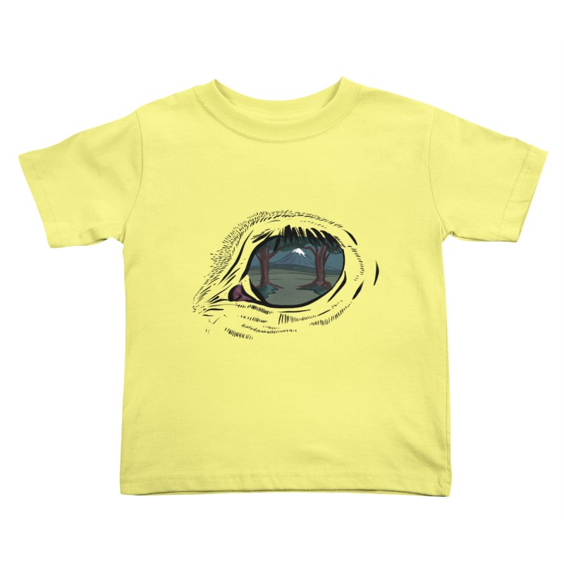 Unicorn Eye Kids Toddler T-Shirt by Unigon Pics Delicious Merch Shoppe