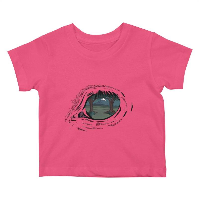 Unicorn Eye Kids Baby T-Shirt by Unigon Pics Delicious Merch Shoppe
