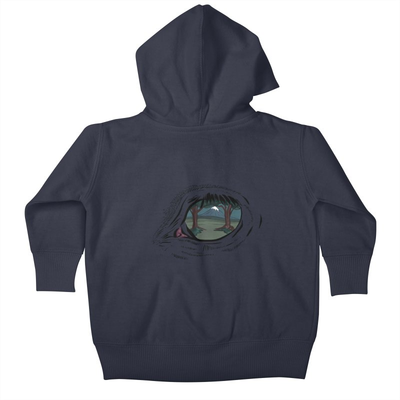 Unicorn Eye Kids Baby Zip-Up Hoody by Unigon Pics Delicious Merch Shoppe