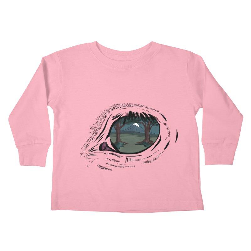 Unicorn Eye Kids Toddler Longsleeve T-Shirt by Unigon Pics Delicious Merch Shoppe