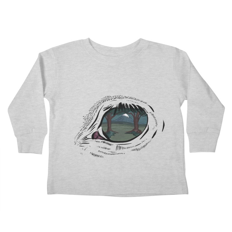 Unicorn Eye Kids Toddler Longsleeve T-Shirt by Unigon Pics Delicious Merch Shoppe