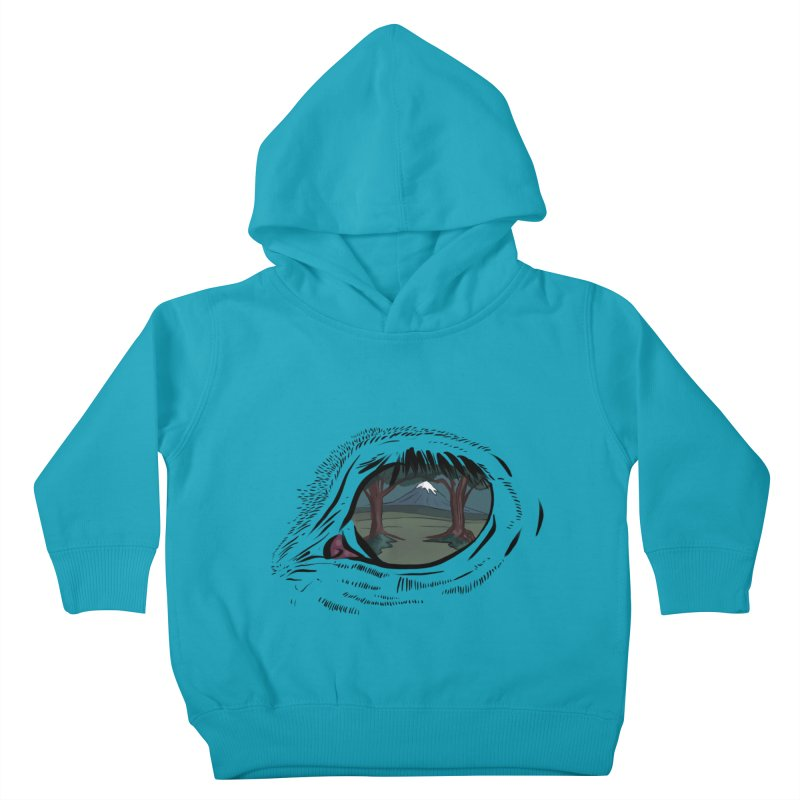 Unicorn Eye Kids Toddler Pullover Hoody by Unigon Pics Delicious Merch Shoppe