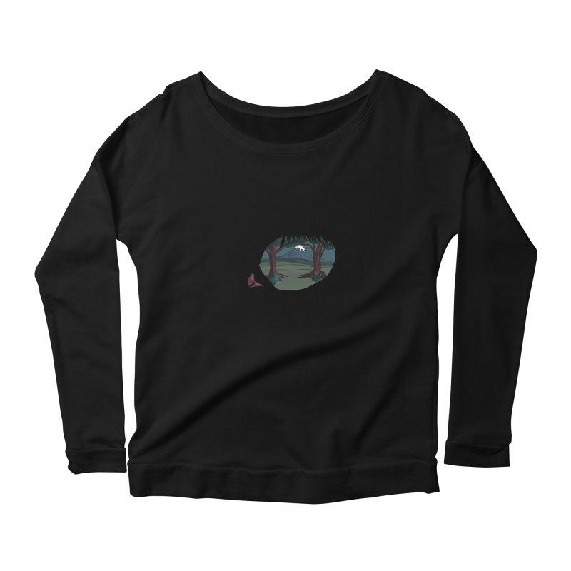 Unicorn Eye Women's Scoop Neck Longsleeve T-Shirt by Unigon Pics Delicious Merch Shoppe