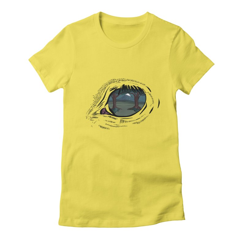 Unicorn Eye Women's Fitted T-Shirt by Unigon Pics Delicious Merch Shoppe