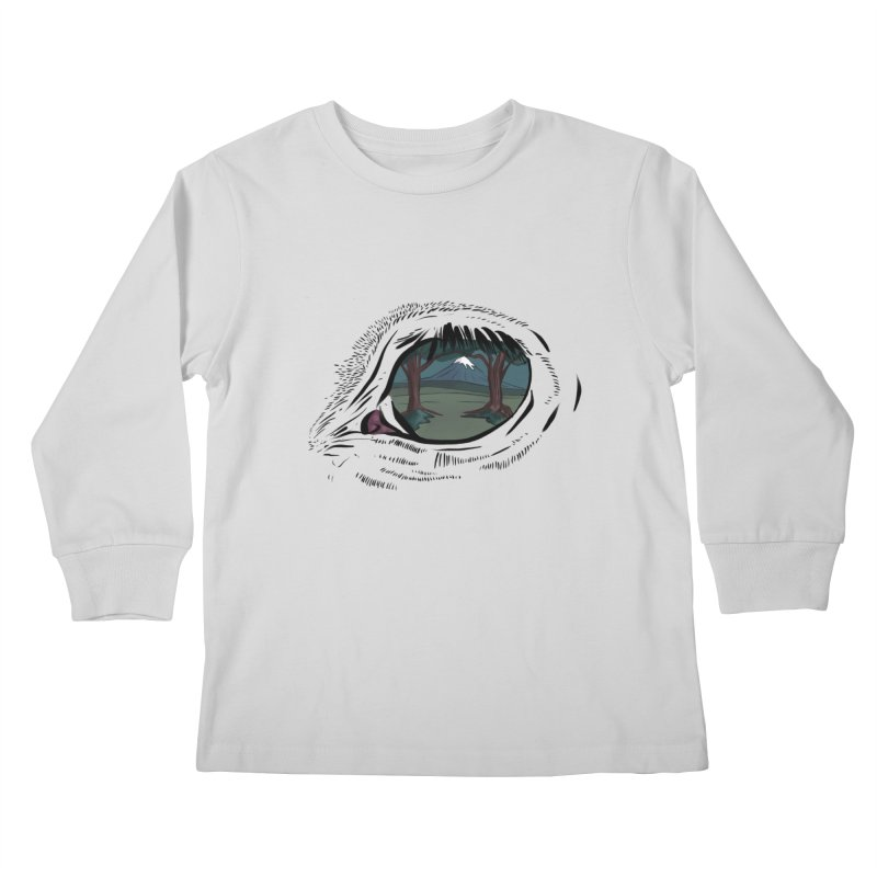 Unicorn Eye Kids Longsleeve T-Shirt by Unigon Pics Delicious Merch Shoppe