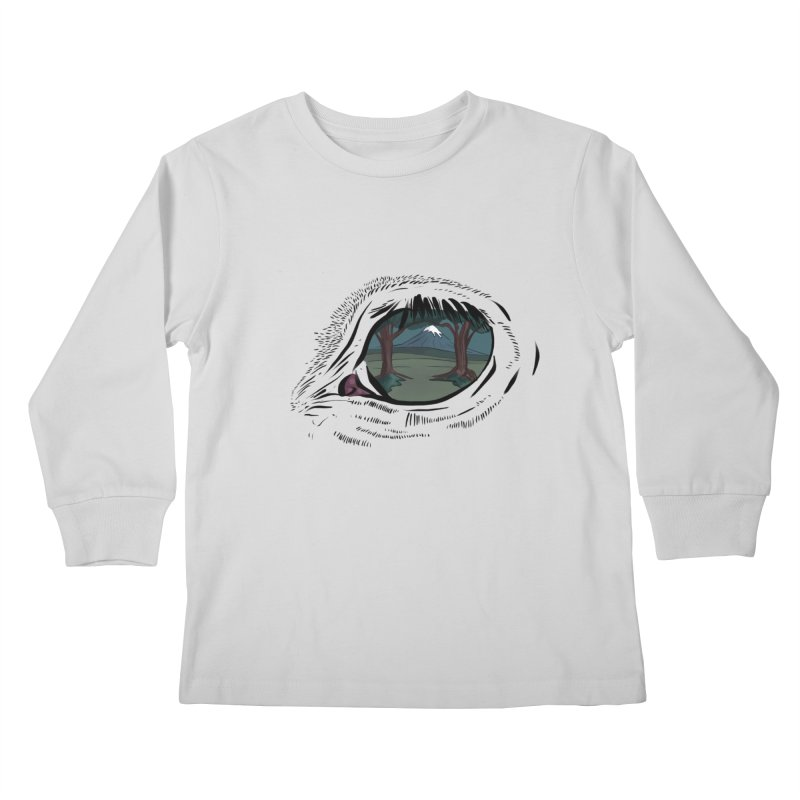 Unicorn Eye Kids Longsleeve T-Shirt by Unigon Pics Delicious Merch Shoppe