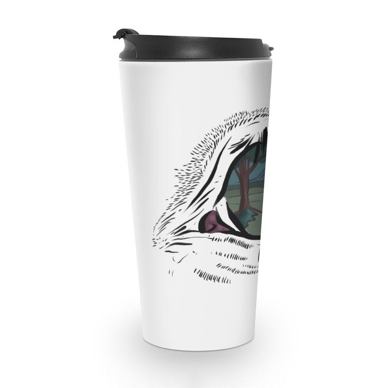 Unicorn Eye Accessories Travel Mug by Unigon Pics Delicious Merch Shoppe