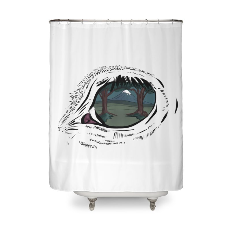 Unicorn Eye Home Shower Curtain by Unigon Pics Delicious Merch Shoppe