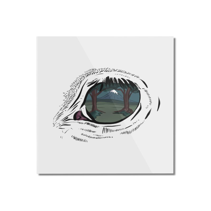 Unicorn Eye Home Mounted Acrylic Print by Unigon Pics Delicious Merch Shoppe