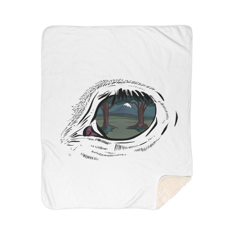 Unicorn Eye Home Sherpa Blanket Blanket by Unigon Pics Delicious Merch Shoppe
