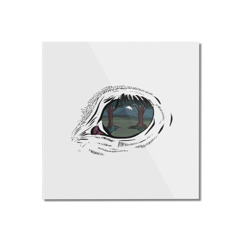 Unicorn Eye Home Mounted Acrylic Print by Unigon Pics Delicious Merch Shoppe