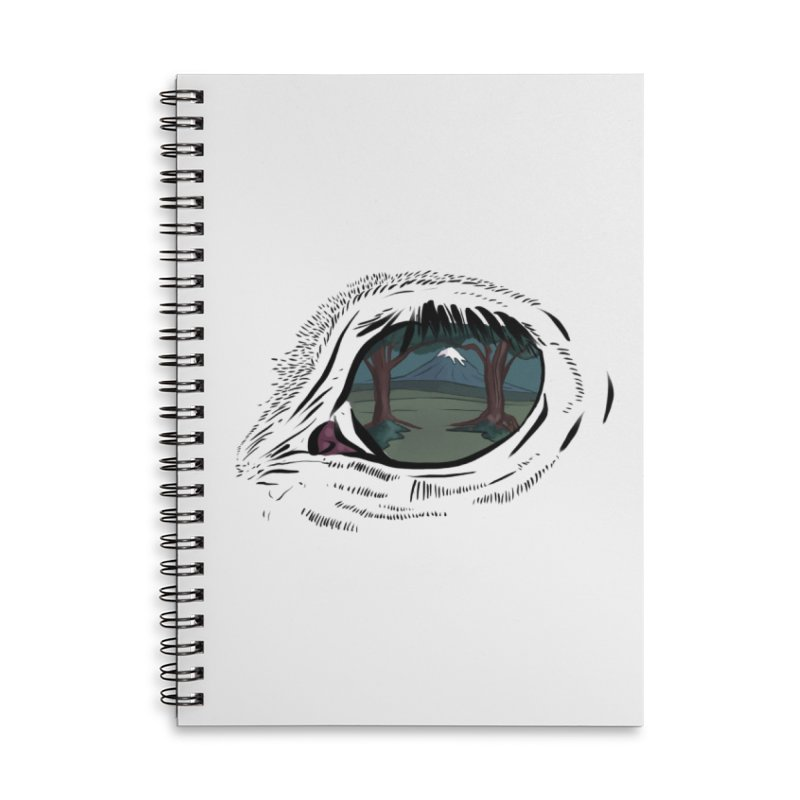 Unicorn Eye Accessories Lined Spiral Notebook by Unigon Pics Delicious Merch Shoppe