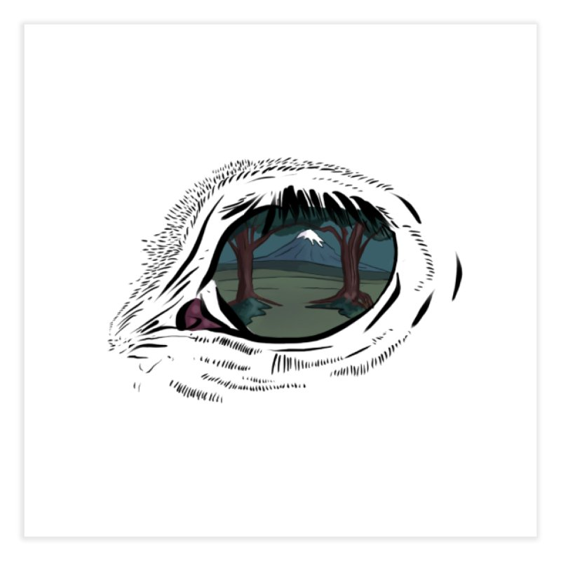 Unicorn Eye Home Fine Art Print by Unigon Pics Delicious Merch Shoppe